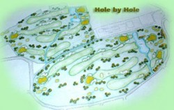 Layout image, Grand Bali Beach Golf Club, Bali Golf