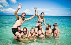 Bath on The Beach,Flores adventure,Open Trip 4D3N Lombok to Flores
