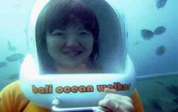 Under sea image, Bali Ocean Walker, Benoa Marine Sport