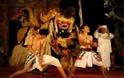 Barong and Kris Dance at Ubud,Balinese Show,Barong and Keris Dance