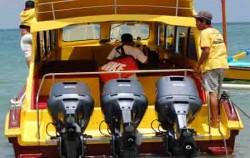 Caspla Bali Fast Boat, Nusa Penida Fast boats, Caspla Engine