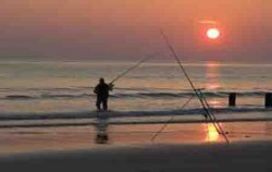 Special Shore Fishing, Bali Fishing, Sunset