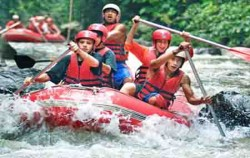 Village Cycling With Rafting, Rafting