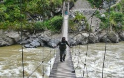 Baliem Valley Trekking 6 Days 5 Nights, Papua Adventure, Baliem River Suspension Bridge