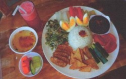 Set Menu Vegetarian,Bali Restaurants,Bebek Uma Dawa Restaurant
