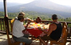 Breakfast at Penelokan,Bali Cycling,Bali Emerald Cycling Tour