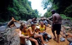 coconut drink beside the river,Bali Trekking,Secret of Sambangan Trekking by Alam Adventure