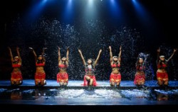 Water on the stage,Balinese Show,Bali Nusa Dua Theatre