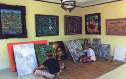 Gallery Paintings,Bali Restaurants,Bebek Uma Dawa Restaurant
