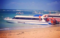 Departure from Sanur Beach,Lembongan Fast boats,Glory Express
