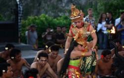 Rama and Sita image, Kecak Dance, Balinese Show