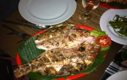 Fish Menu,Bali Restaurants,King Crab Dena's Cafe