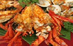Lobster Menu,Bali Restaurants,King Crab Dena's Cafe