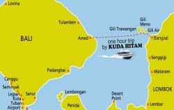 Mapp of Transfer,Gili Islands Transfer,Kuda Hitam Express