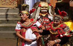 Barong and Keris Dance, Balinese Show, Figure of Jokes