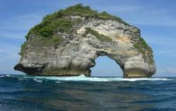 Bali Diving Activities, Manta Point Rock