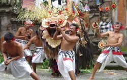 Segmen of 'Ngurek' image, Barong and Keris Dance, Balinese Show
