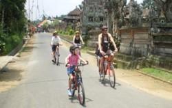 Hapy Family on Byke image, Bali Bike Baik Tour, Bali Cycling