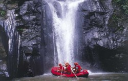 Ayung River Rafting, Waterfall in Rafting Track