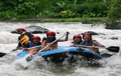 White Water Rafting,Bali Cycling,Village Cycling With Rafting