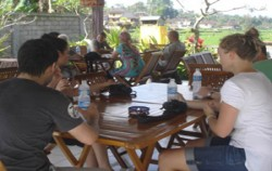 Bali Emerald Cycling Tour, Bali Cycling, Dinner with Rice Field View