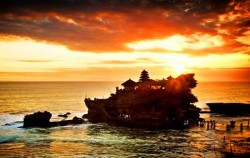 Tanah Lot Sunset image, Combination Tour Packages, Bali Tour Packages